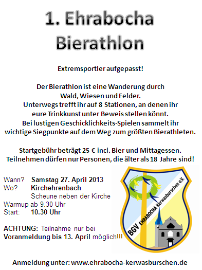 Bierathlon am 27. April